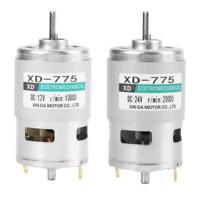 XD-775 12V/24V High Speed Double Ball Bearing Brush DC Motor