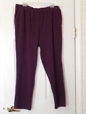 Lands' End Women's Size 1X 16W-18W Wine Color Pants BNWOT