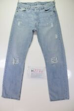 Levis 501 Ripped Remake (Cod. H2274)Tg48 W34 L34 jeans used Vintage Original