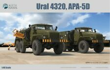 KINETIC 1/48 RUSSIAN GROUND SUPPORT DOUBLE 6x6 TRUCK KIT- APA5D FUEL +URAL-4320