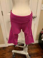 Prana Magenta Cropped Workout Athleisure Capri Pants, Size XS