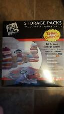 Storage Packs Vacuum Seal and Roll Up Space Packs 15 Bag Combo Set