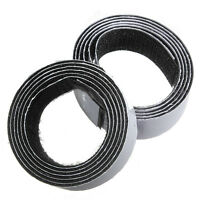 1m x20mm Self Adhesive Sticky Hook And Loop Roll Strap Fastener, Black,20mm K5E3