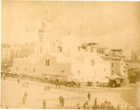 Algérie, Grande Mosquée d'Alger  Vintage albumen print.  Tirage albuminé