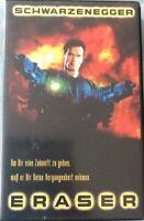 VHS Eraser (1997) FSK 16 Action mit Arnold Schwarzenegger & James Caan