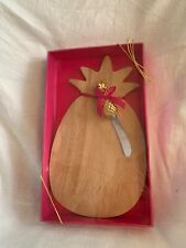 Wooden Pineapple Cheese Board With Knife By dei NIB