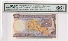 1972 Singapore 25 Dollars  P-4 PMG 66 EPQ Gem UNC