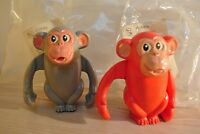 Two Soviet vintage toy.  Clockwork Monkey 1982 working