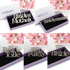 Crystal Bride Boutique Diamante Brooch Wedding style Personalised Party Gifts