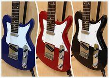 3/4 Size Caraya Ei38 TC Electric Guitar Short Scale Black Gig Bag Strap