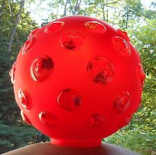 Antique GWTW Gone with the Wind Ruby Cranberry Satin Glass Lamp Globe Shade
