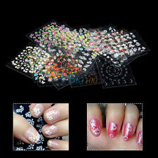 Colorful Water Decals Pour Les Ongles Embouts Stickers Car collants 3D Nail Art