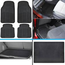 All Weather Auto Car Floor Mats & Rear Trunk Liner fits Nissan Sentra - Black