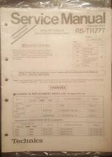 Technics RS-TR777 Service Manual
