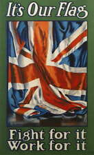 WW1 World War 1 propaganda UK - Large poster 1914-2018 Its Our Flag 100 year