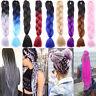 Hair Extensions Crochet Box Braids Braiding Hair Synthetic Ombre 100 pcs fo