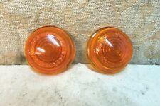 2 NOS OEM LUCAS L488 GLASS LAMP LENSES ROVER 75 LANDROVER SERIES 1 ALLARD J2