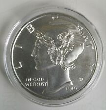 1 Oz .999 silver 1916 D Mercury Dime winged liberty large coin full bars art