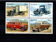 ISLAND FRANCOBOLLI AUTOMOBILI CLASSICHE CLASSIC CARS 4 STAMPS 1992 NUOVI NEW