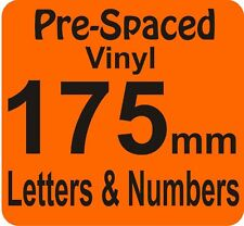 175mm Pre Spaced Vinyl Adhesive Letters Number DIY SIGN