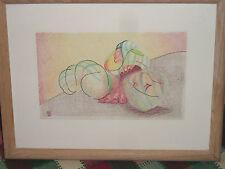 "Original Colored Pencil & Ink ""Ancient Feelings"" Marlene Baron Summers"