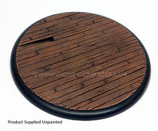 120mm Round Lipped Wood Plank Scenic Resin Base - Warmachine Colossal Bases