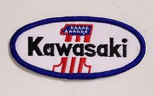 VINTAGE KAWASAKI MOTORCYLES EMBROIDERED PATCH WOVEN CLOTH BADGE SEW-ON RACING