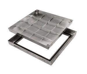 Schachtabdeckung PRO+slim zum Befüllen, Edelstahl oder verzinkt Aufbauhöhe 50 mm
