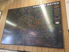 Phoenix Metro Large Aerial Photomosaic Wall Map Satin Laminated *58x40*