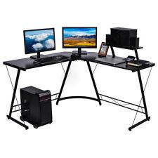 Computertisch Eckschreibtisch L-förmig Schreibtisch Gaming Tisch Bürotisch DE