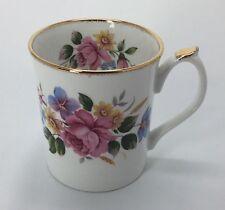 Elizabethan Staffordshire Pink Rose Hand Decorated Bone China Mug England