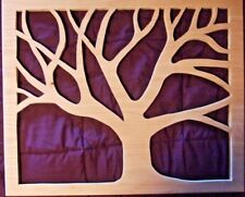 Rustic Cut Wood Wall Art Sculpture Handmade 28 x 23 Unfinished