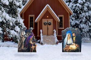 Christmas Nativity Three Wise Men Yard Sign Decoration Holiday Christmas Jesus