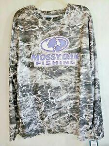 Mossy Oak L ELEMENTS AGUA Fishing shirt Long Sleeve Camo Large Black Manta