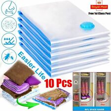 10X LARGE SPACE SAVING STORAGE VACUUM BAGS CLOTHES BEDDING ORGANISER UNDER BED