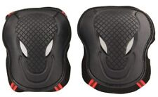 Protective Gear Sports Knee Pads Set Safety Solid Support Pad Medium Red Black