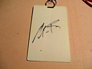 Andy Roddick Signed Morgan Keegan Championship Access Badge