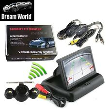 "Wireless Car Rear View System Backup Camera + 4.3"" inch TFT LCD Folding Monitor"