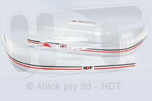 HDT VR VS Headlight Covers Holden Commodore Black & Red Genuine PAHDTNY2-BLK