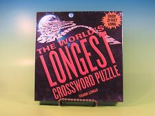 The World's Longest Crossword Puzzle by Frank Longo (2005, Hardcover) MINT NEW