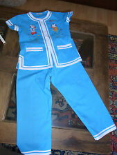 PYJAMA ENFANT BRODE T6 ans VINTAGE 70/80 CHILD EMBROIDERED PYJAMA size 6yrs