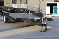 16x6'6 BEAVER TAIL TANDEM CAR CARRIER BOX CAR TRAILER - NEW WHEELS