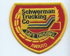 Schwerman Trucking Co safe driving award truck driver patch 3 X 3-3/8 #1270