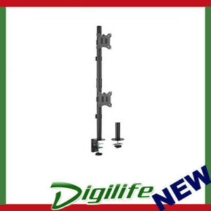 """Brateck Vertical Pole Mount Dual-Screen Monitor Mount Fit Most 17""""-32"""" Monitors"""