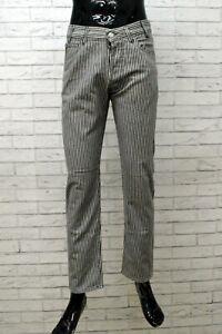 Pantalone a Righe  Armani Jeans Taglia 38 Jeans da Uomo Slim Cotone Grigio
