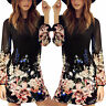 Sexy Women Summer Casual Floral Chiffon Cocktail Party Evening Short Mini Dress