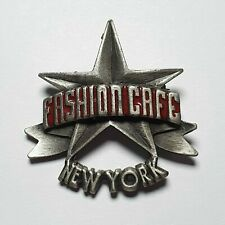 More details for pewter metal fashion cafe new york pin badge - very rare - closed down 1999