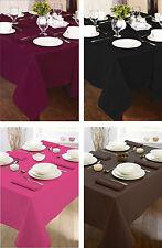 Plain Table Linen Square Fuchsia Table Cloth Cover Dine 100% Cotton 2-4 Seater