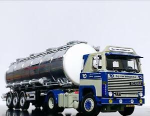 """Scania 111/141 4x2 tank trailer 3 axle """"Van Bentum"""" WSI truck models"""