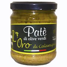 PATE' Patè Di Olive Verdi 212 ml Bio Green Olive Paste-antipasti crema di olive